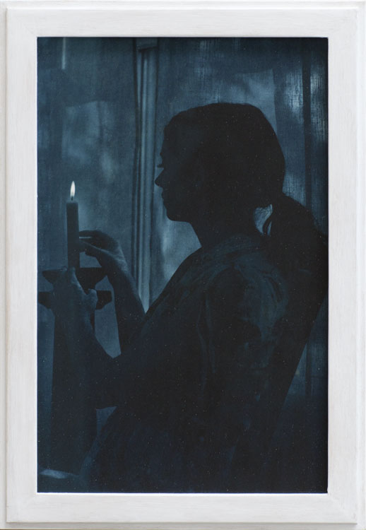 Alina in the Moonlight  pigment print, artist made frame