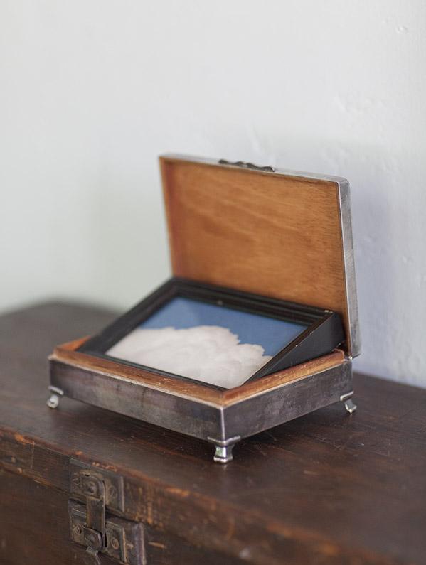 The Elegant Hours      Pigment print, antique frame & vintage silver box