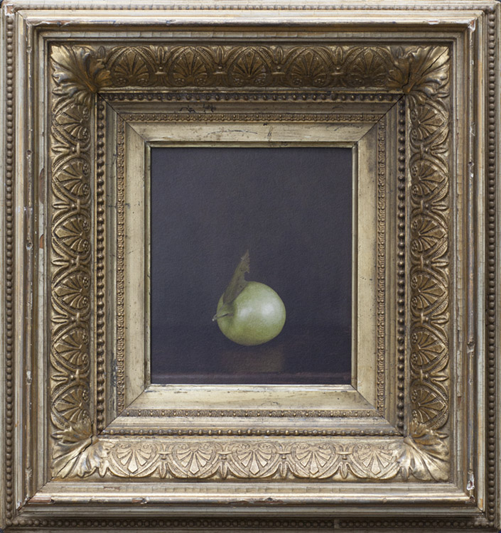 Apple           pigment print, antique frame