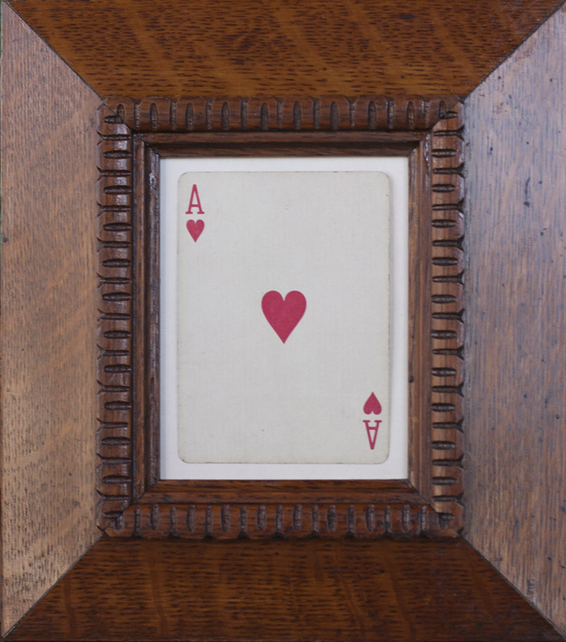 Ace of Hearts            pigment print, antique oak frame