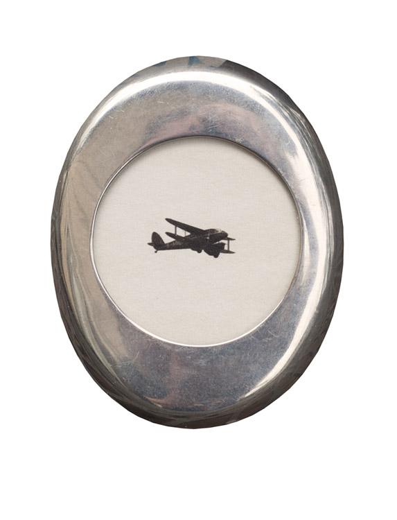 The New Bi Planes     pigment print, vintage sterling silver frame