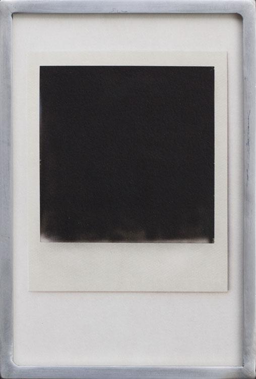 Black Polaroid     Pigment print, welded aluminum frame