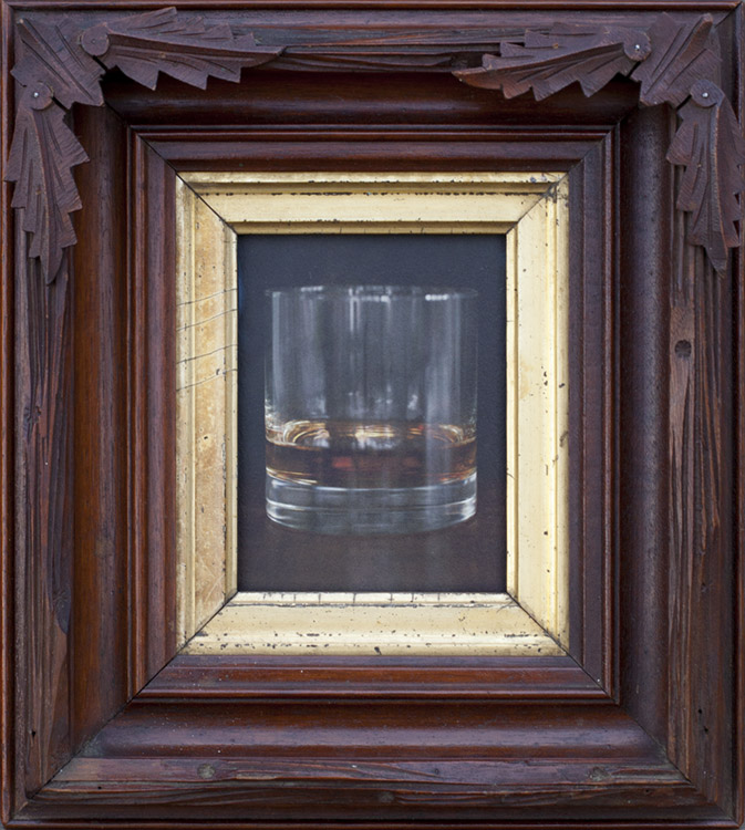 Whiskey          Pigment print, antique frame