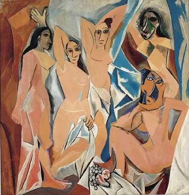 Picasso, Avignon'lu Kadınlar, 1907:On bir ya da on ikinci yüzyıldan bu yana, kadının et olarak, içinde erkeğin ölünceye kadar acı çekmeye yazgılandığı bedensel cehennem olarak görüldüğü dönemden bu yana, hiçbir kadının resmedilmediği kadar hayvani bir biçimde resmedilmişti bu kadınlar.