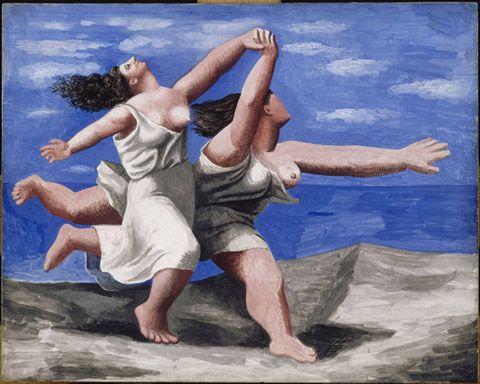 Picasso, YArış, 1922: Berger'in Picasso'nun absürt resimlerine verdiği örneklerden biri.