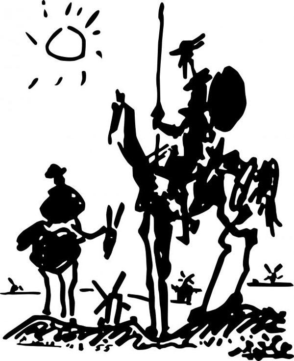 Pablo Picasso - Don Quixote (1955)