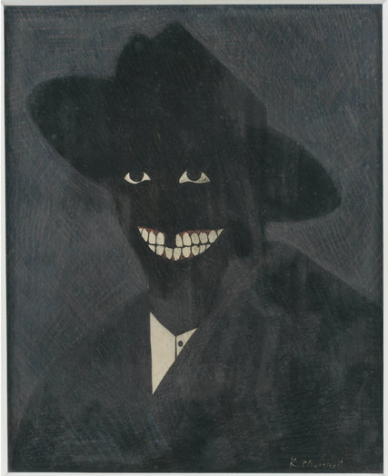 Kerry James Marshall - Eski Halinin Gölgesi Olarak Sanatçının Portresi (1980) - Bügün Chicago Çağdaş Sanat Müzesi'ndedir.