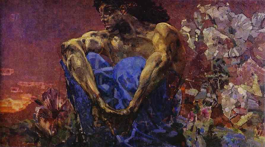 Mikail Vrubel - Oturan İblis (1890)