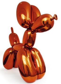 Jeff Koons - Balon Köpek (Turuncu)  58.4 milyon dolara satılarak Jeff Koons'u yaşayan en pahalı sanat eserine sahip sanatçı yaptı