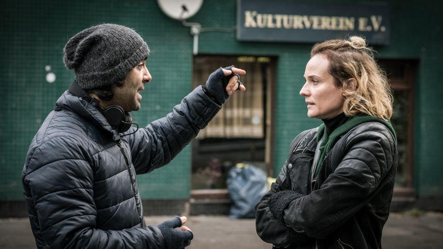 Fatih Akın ve Diane Kruger sette