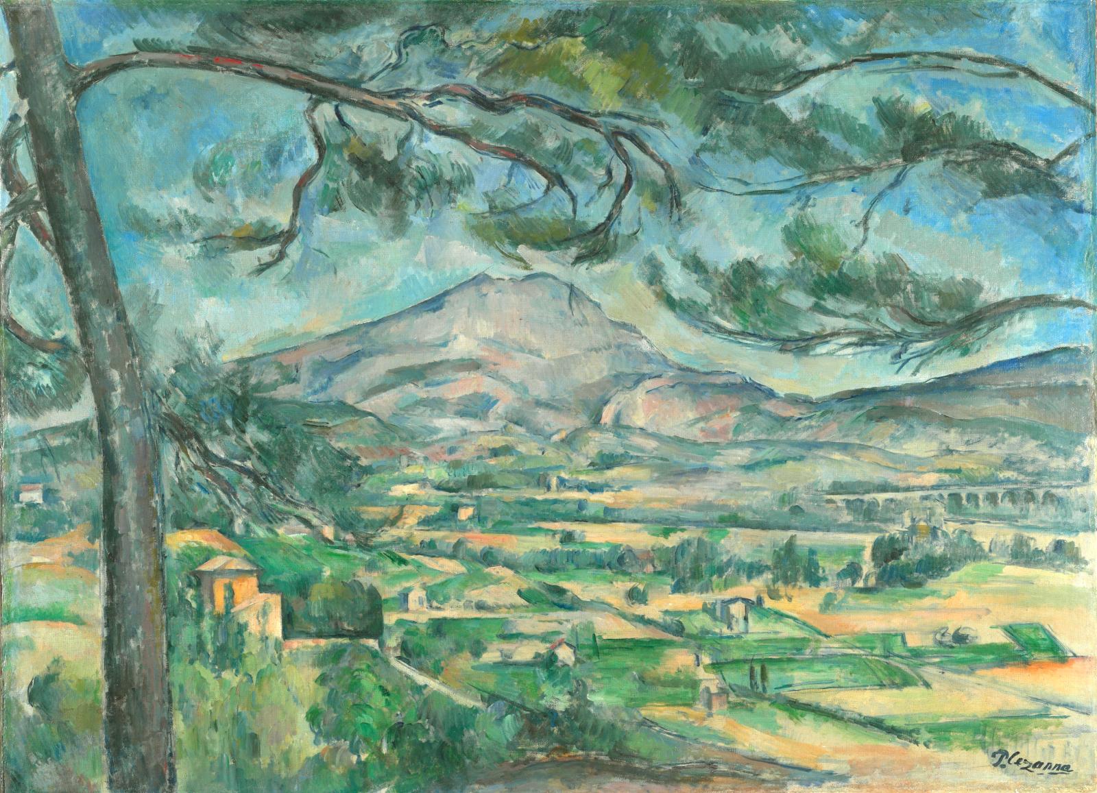 Apul Cezanne - Sainte-Victoire Dağı ve Büyük Çam (1887)