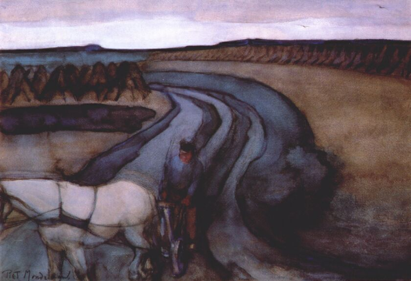 Piet Mondrian - Toprak Üzerinde Çalışma (1898)