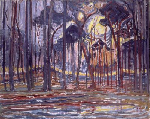 Piet Mondrian - Oele Yakınlarındaki Orman (1908)