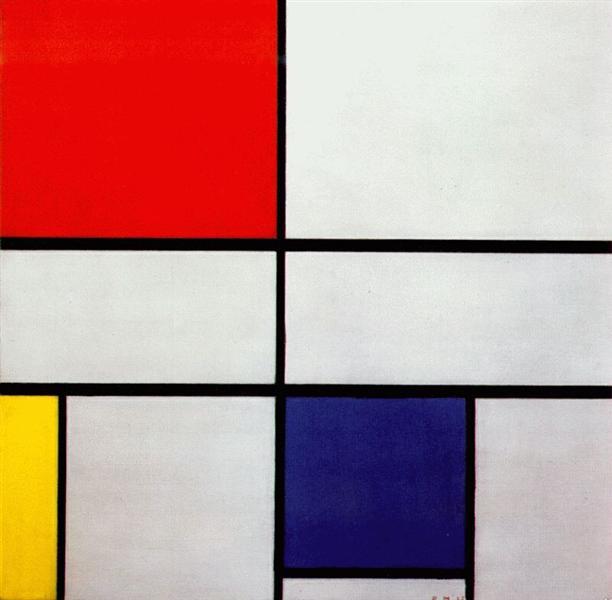 Piet Mondrian -Kompozisyon C No III Kırmızı, Sarı ve Mavi (1935)