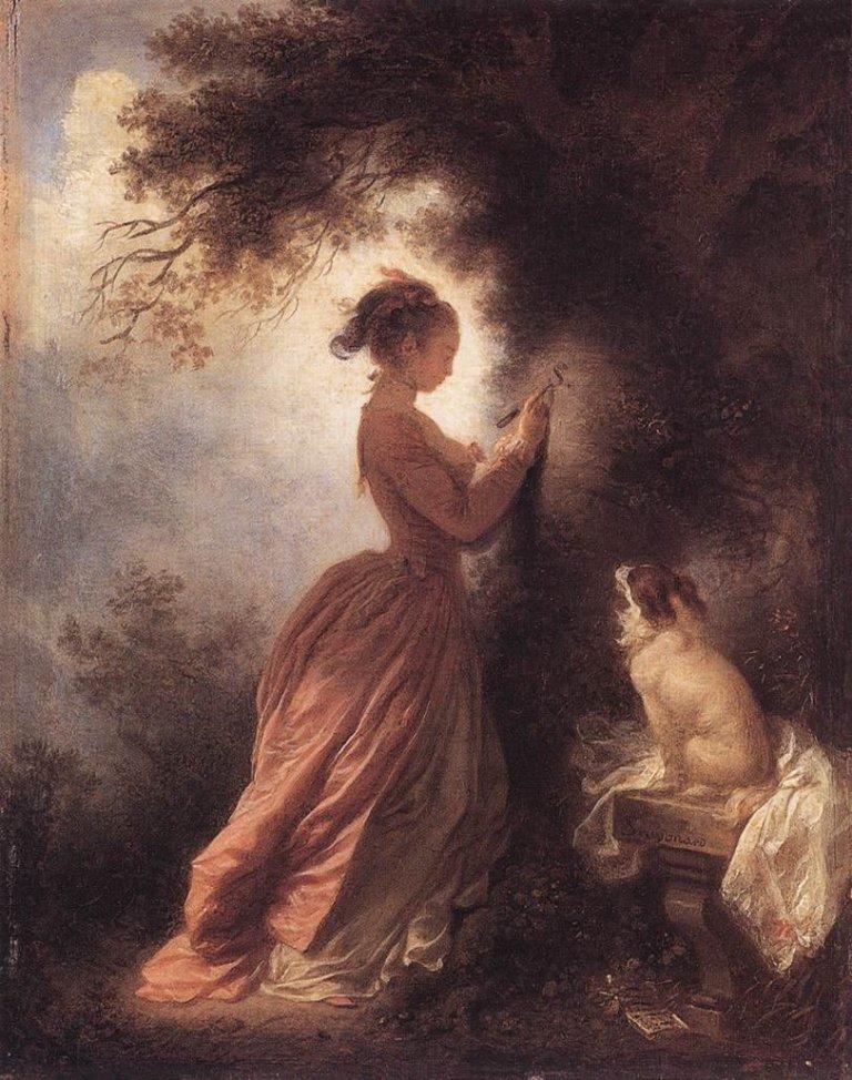 The Souvenir, Jean-Honore Fragonard (1775-1778)