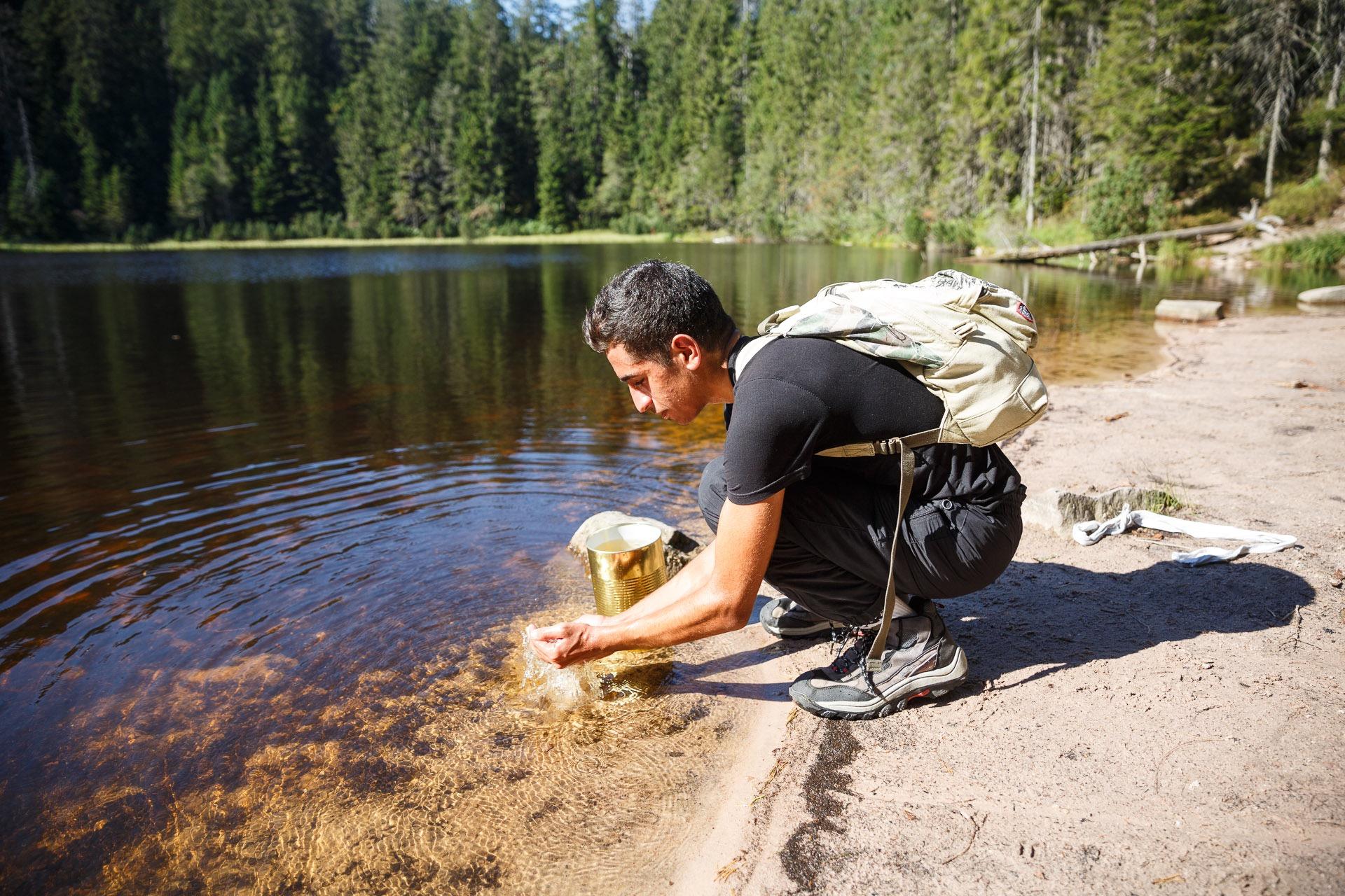Die letzte Herausforderung für die Teilnehmer wartet am wohlbekannten Wildsee in der Nähe der Darmstädter Hütte, die gleichzeitig den Endpunkt des Abenteuer-Treks markiert.