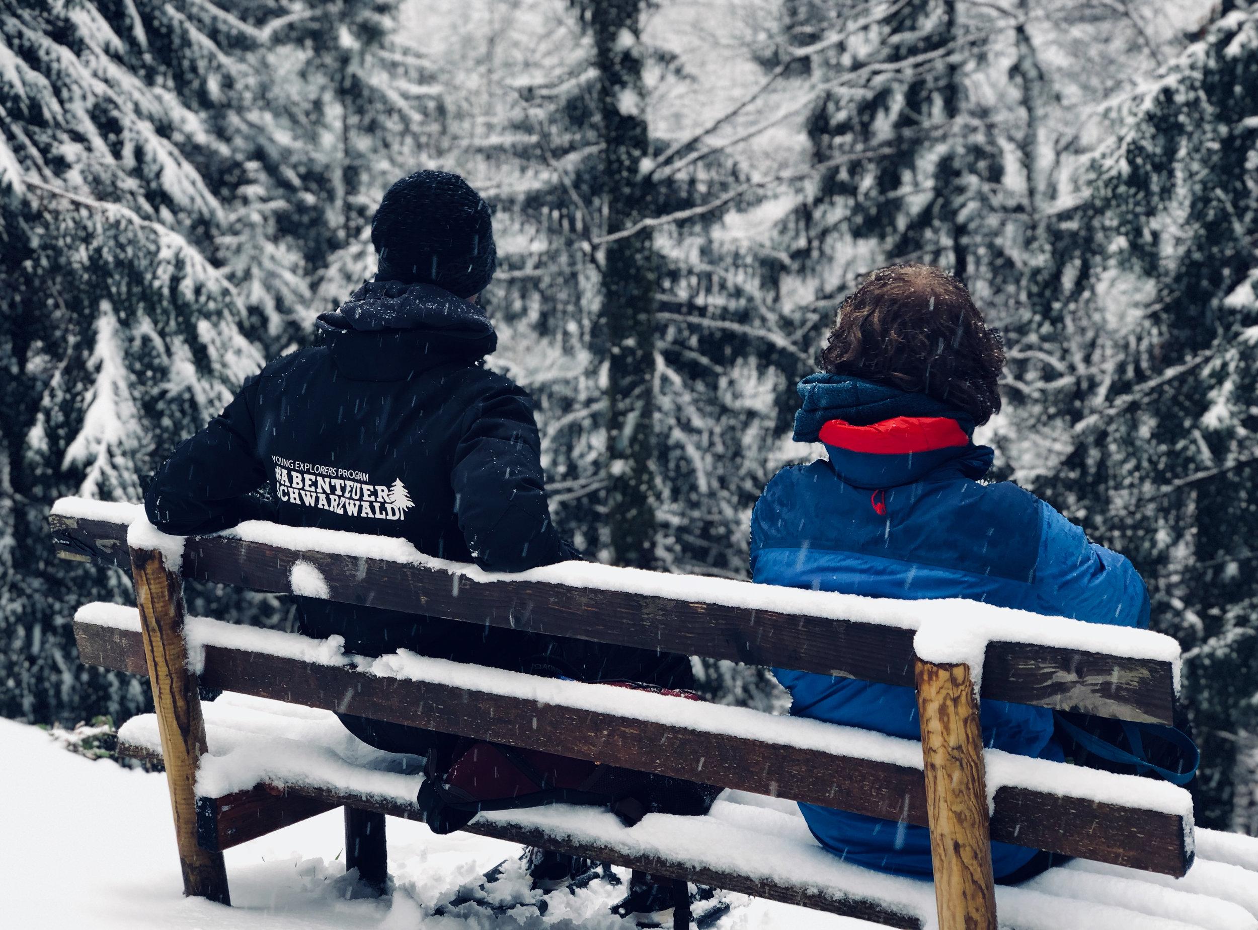 Abenteuer Schwarzwald im Schneegestöber.