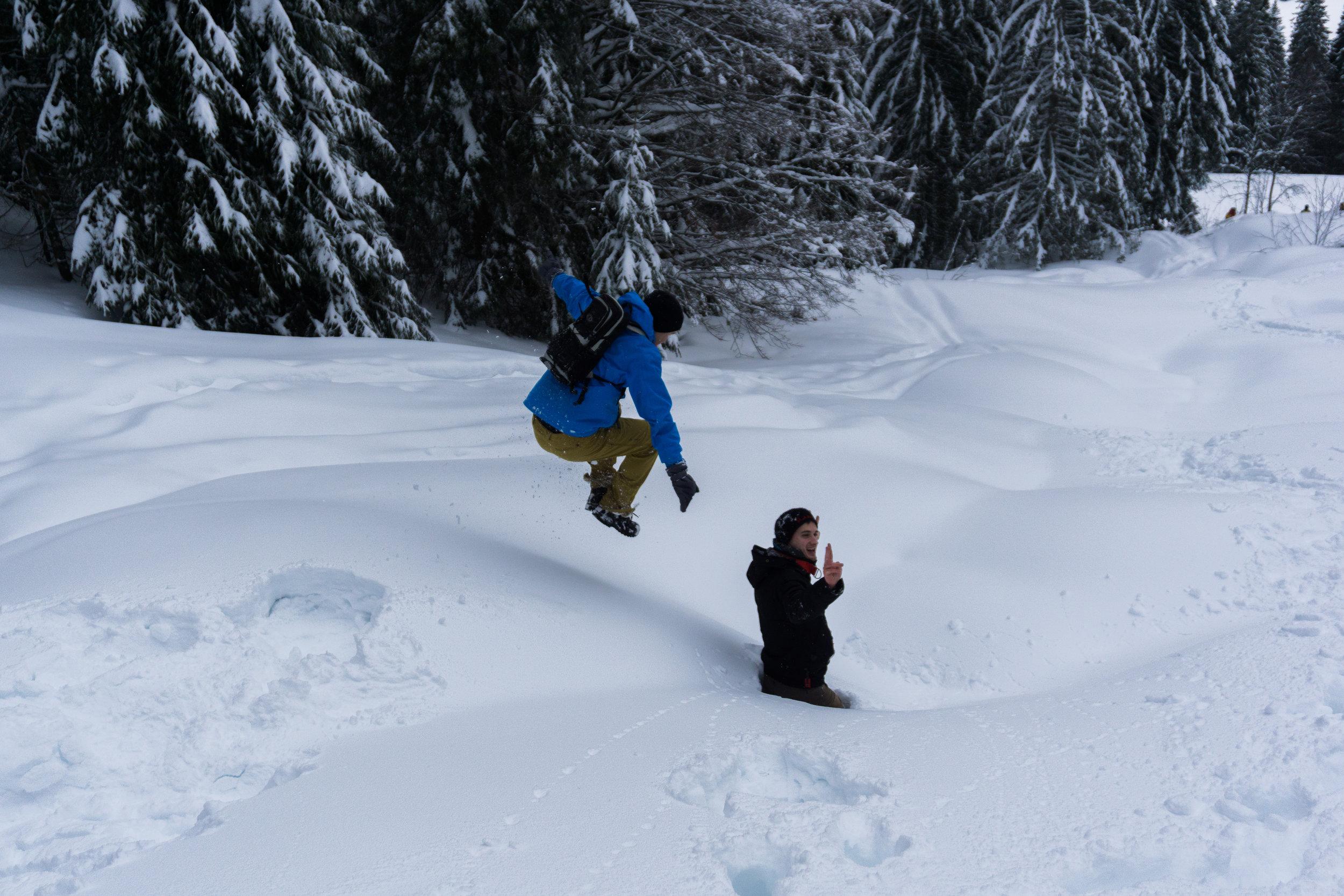 Spaß im Schnee.