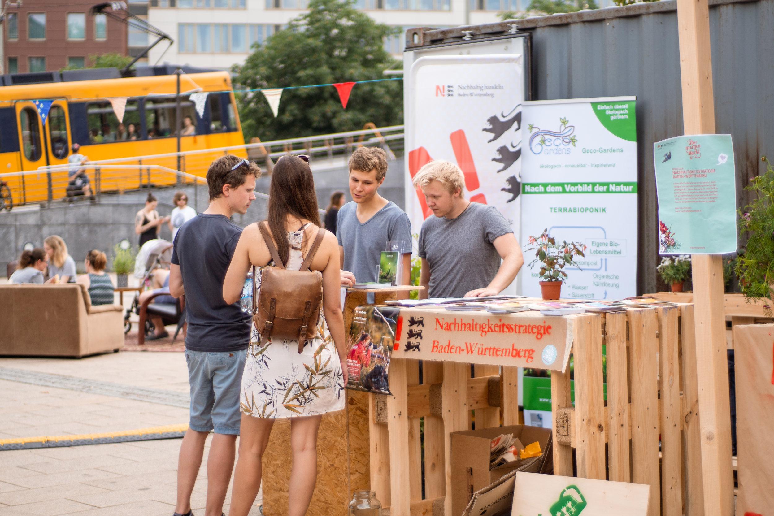 Die Besucher staunen über die Natur im Schwarzwald und versorgen sich mit Infos über den Nationalpark.