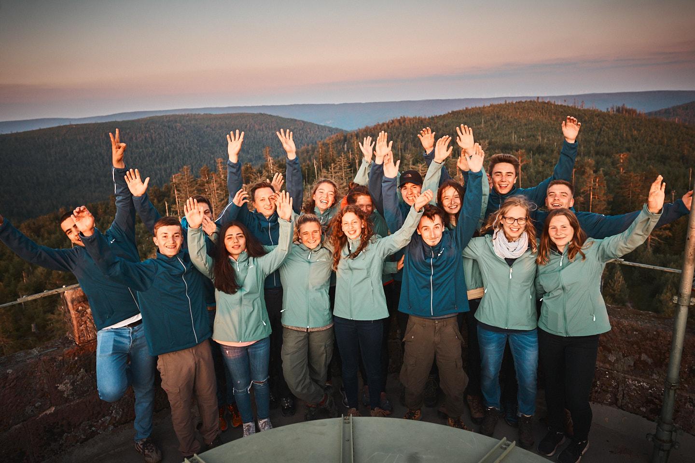 Gruppenfoto auf der Badener Höhe.