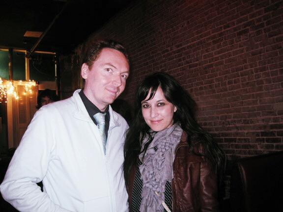My friend Steve and I during my bang era....