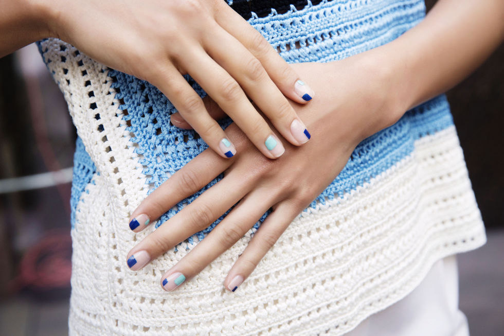 Louboutin nail colors used were Batignolles and Wherever.