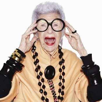 Iris Apfel is a design partner for Wisewear and that babe knows a thing or two about a fashionable accessory! -