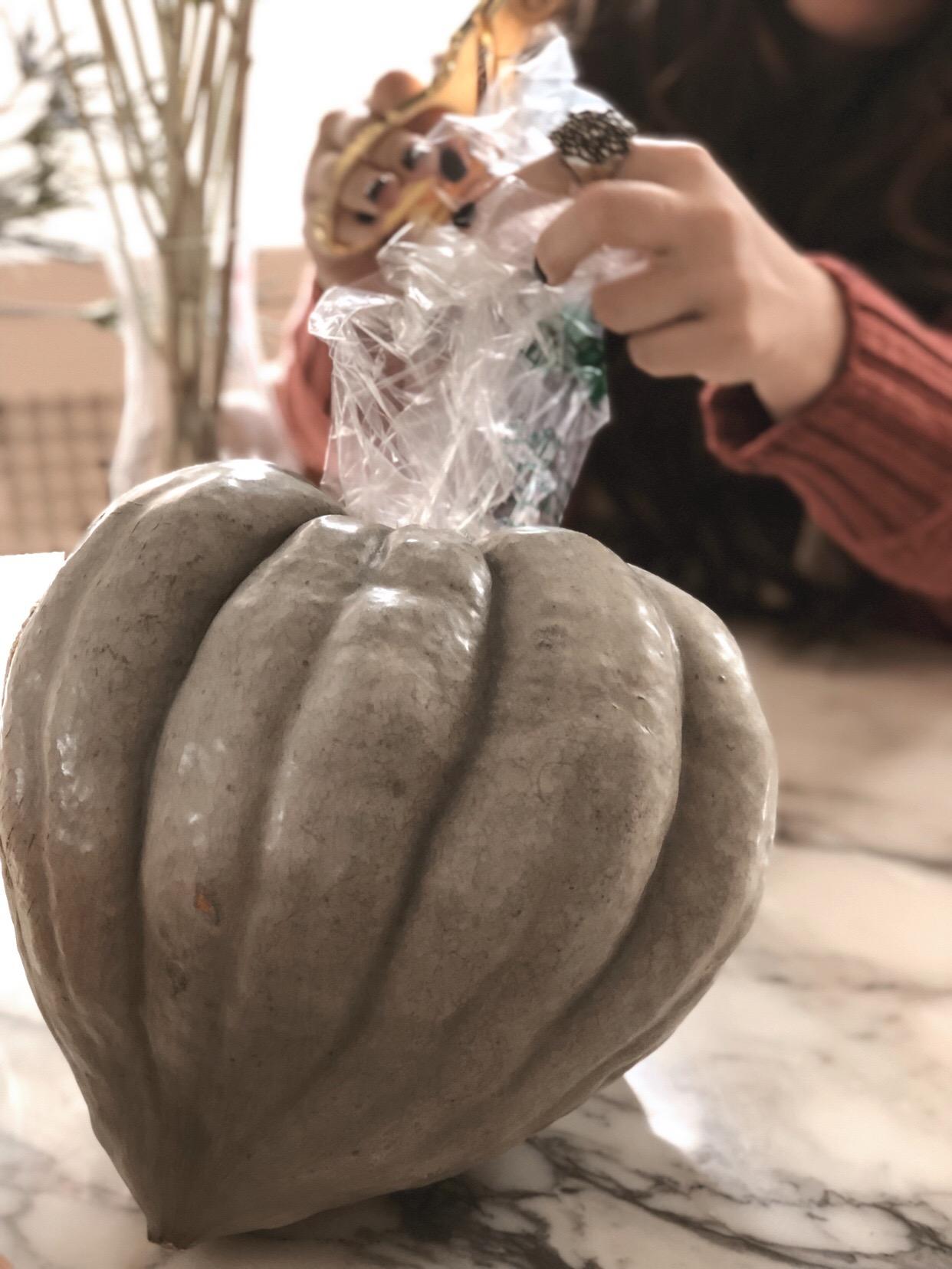 DIY Modern Pumpkin Centerpiece 3.JPG