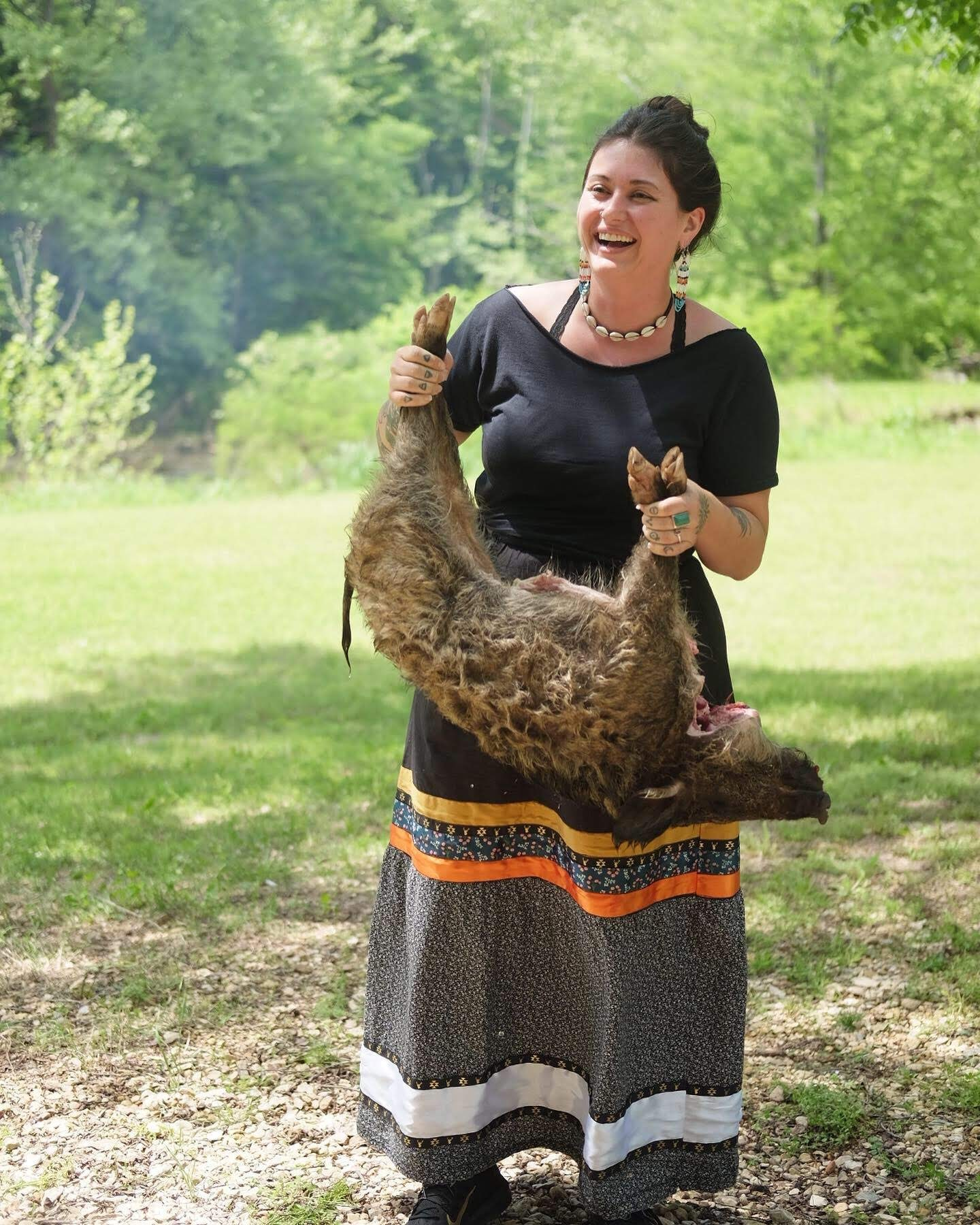 Another photo from the Hairy Bikers shoot, this was the wild hog we roasted, which Amanda's husband John got for me!