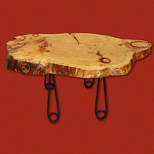 Wooden Cookie Table - Maple top with custom 'clothes pin' legs. Top is marine coated for outside longevity.