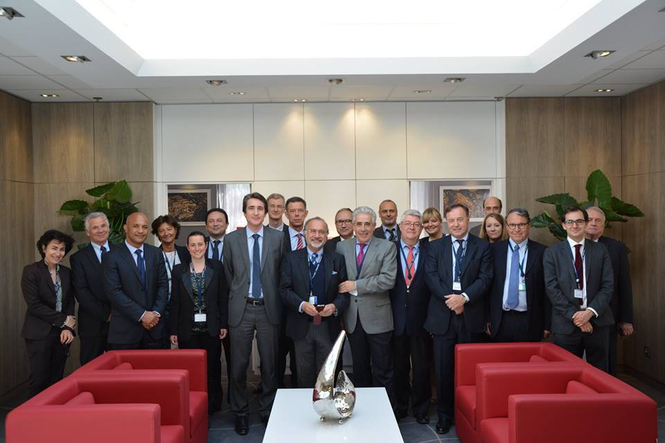 En présence d'Yves Albarello, Olivier Dassault, Jean-Michel Fourgous, Daniel Gibbs et Philippe Vitel