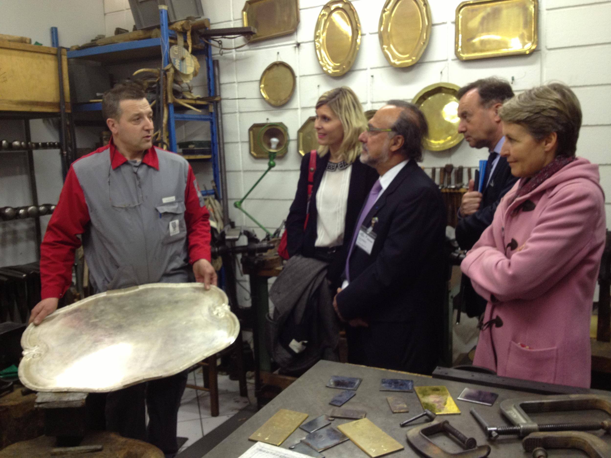 Visite des ateliers d'Hermès et de Puyforcat avec GEEA - 3 avril 2013