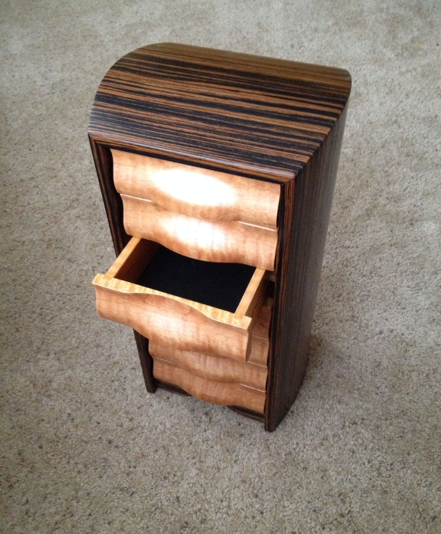 Undulatus Jewelry Box- Macassar Ebony & Birdseye Maple ($895).JPG