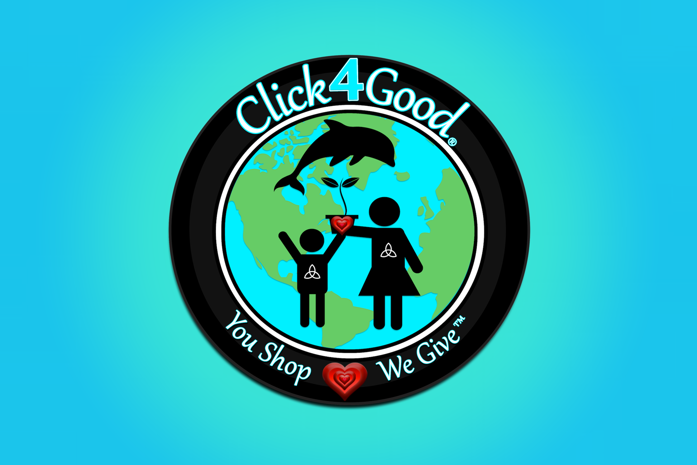 Sharing is Good  - Spread the word, spread the wealth, spread the ♡The more people shop, the more we can give... Share #click4good #live4good #live2give with friends & Follow: @click4good on social media!