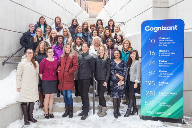 The women of Cognizant Accelerator at the 2019 grand opening of the new Boulder office; photo credit: Joe Valley.