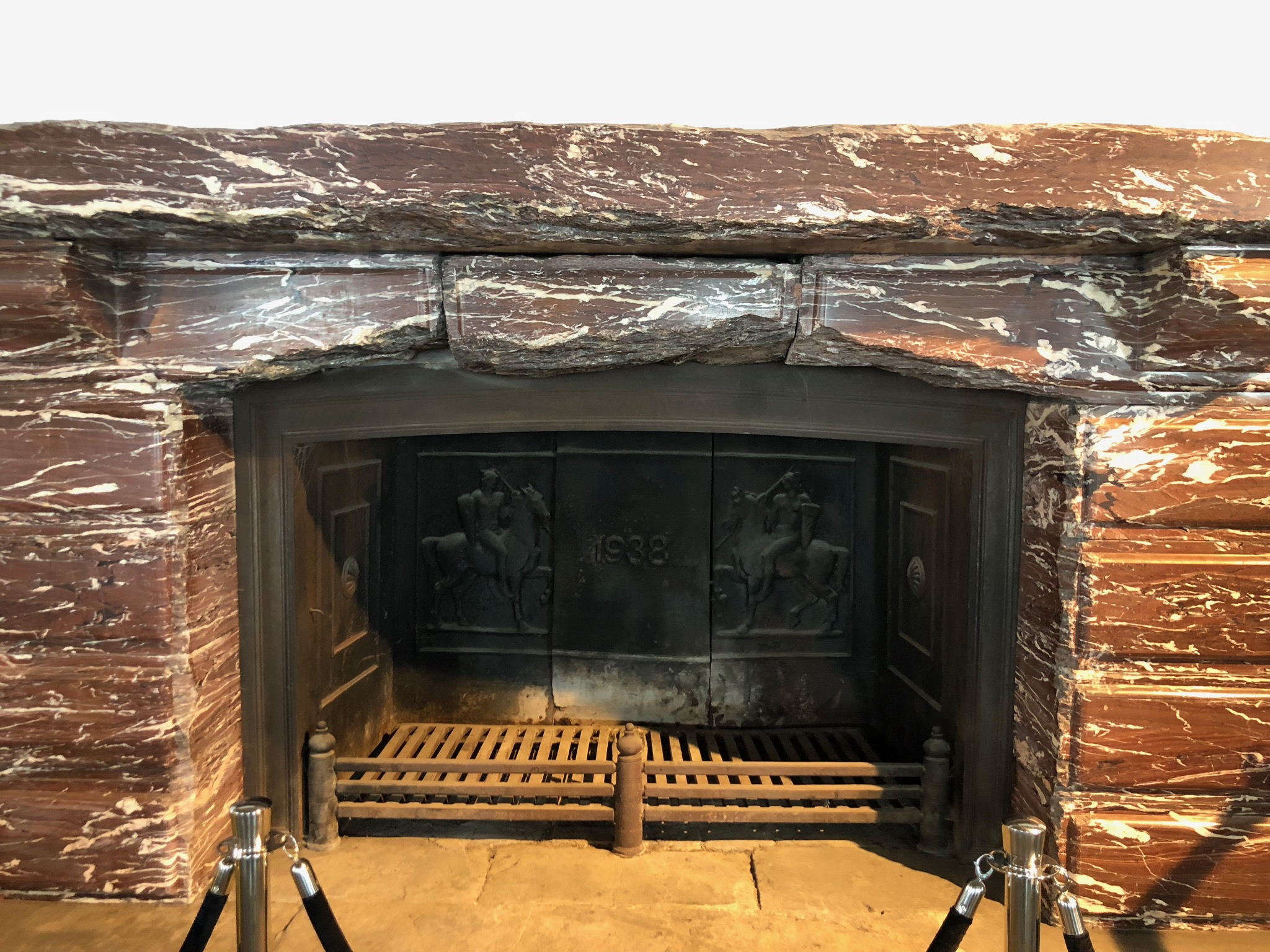 Marble Fireplace at the Eagle's Nest