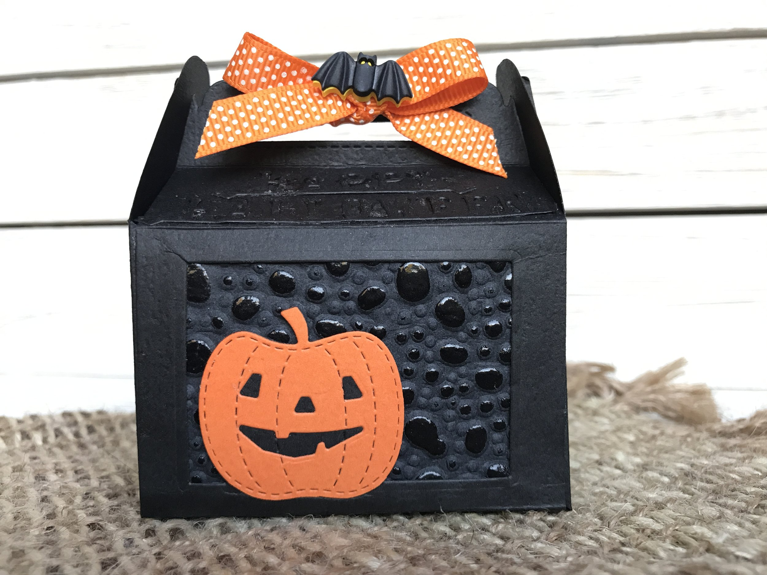 Halloween Jack-o-Lantern and Bat
