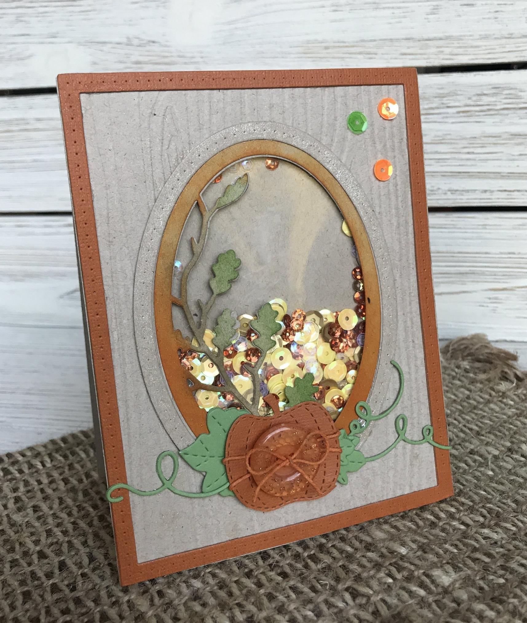 Pumpkin Shaker Card