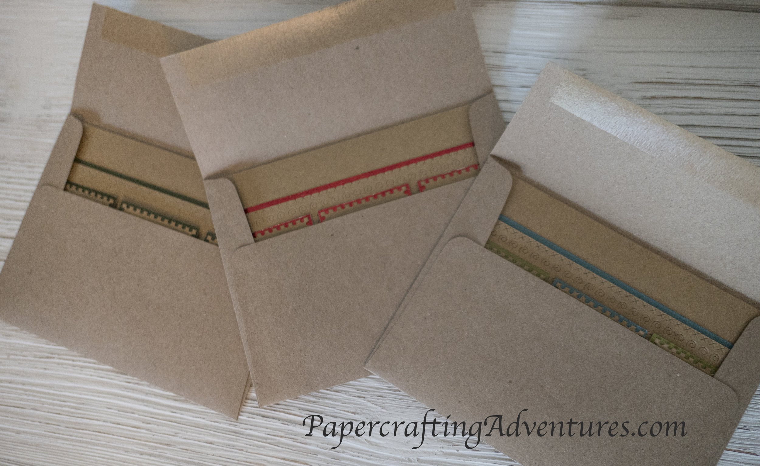 I love how festive these look even before they are out of the envelope.