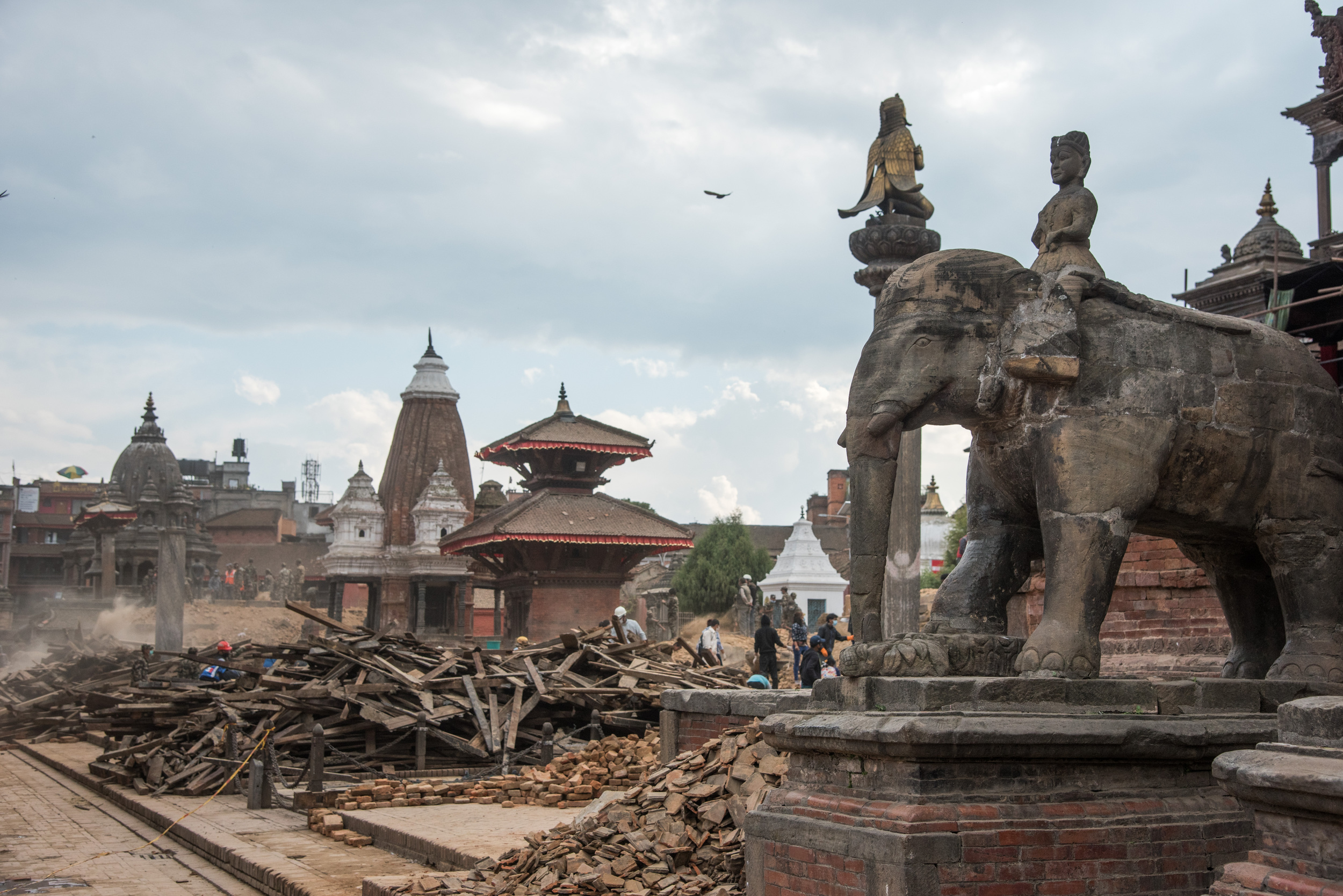 Patan Durbar Square after the earthquakes