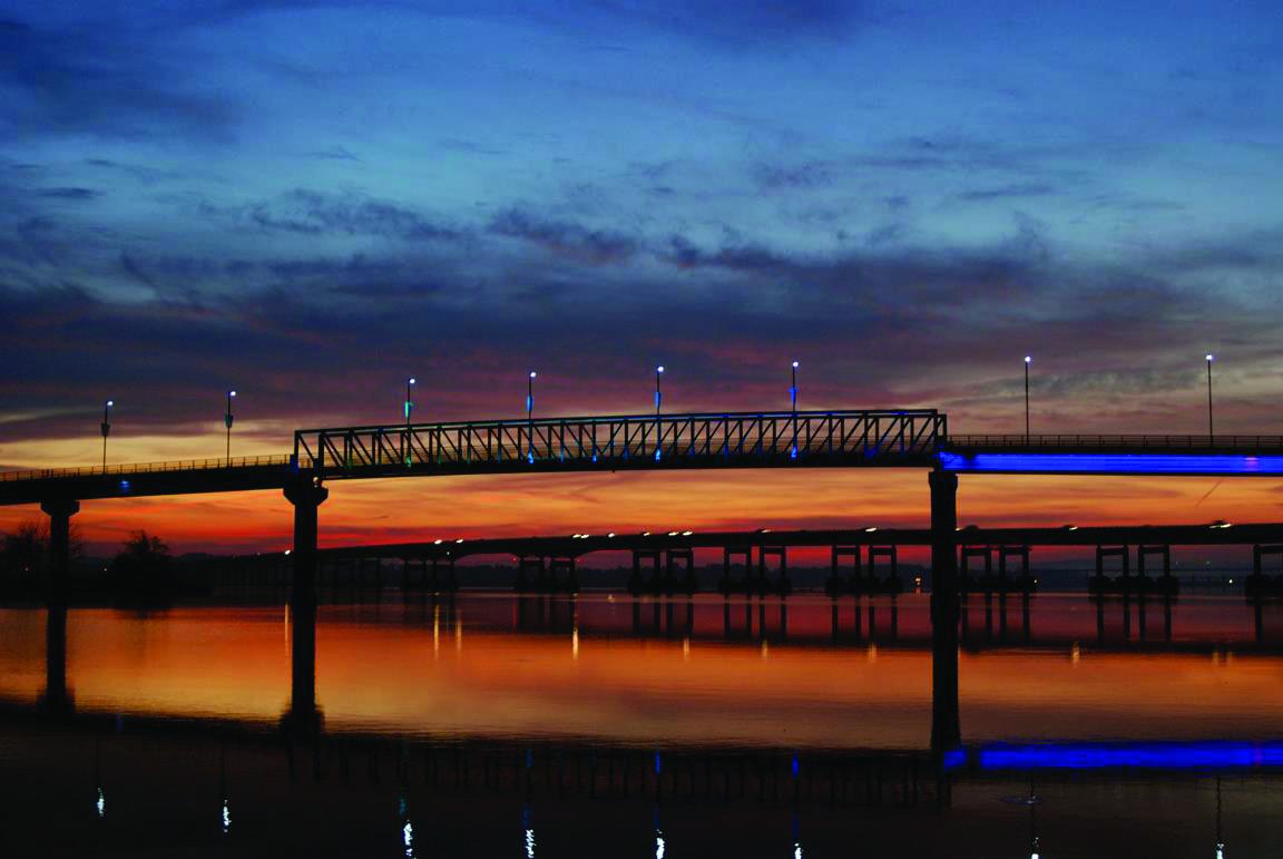 Big Dam Bridge, the longest U.S. bridge dedicated to cycling and walking.