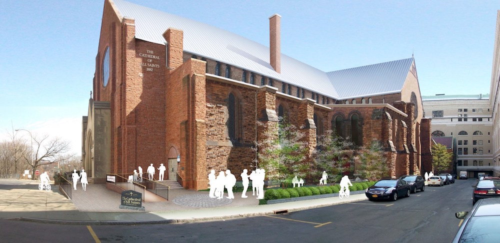 Cathedral of All Saints, Albany, NY - A vision of the Southwest corner garden