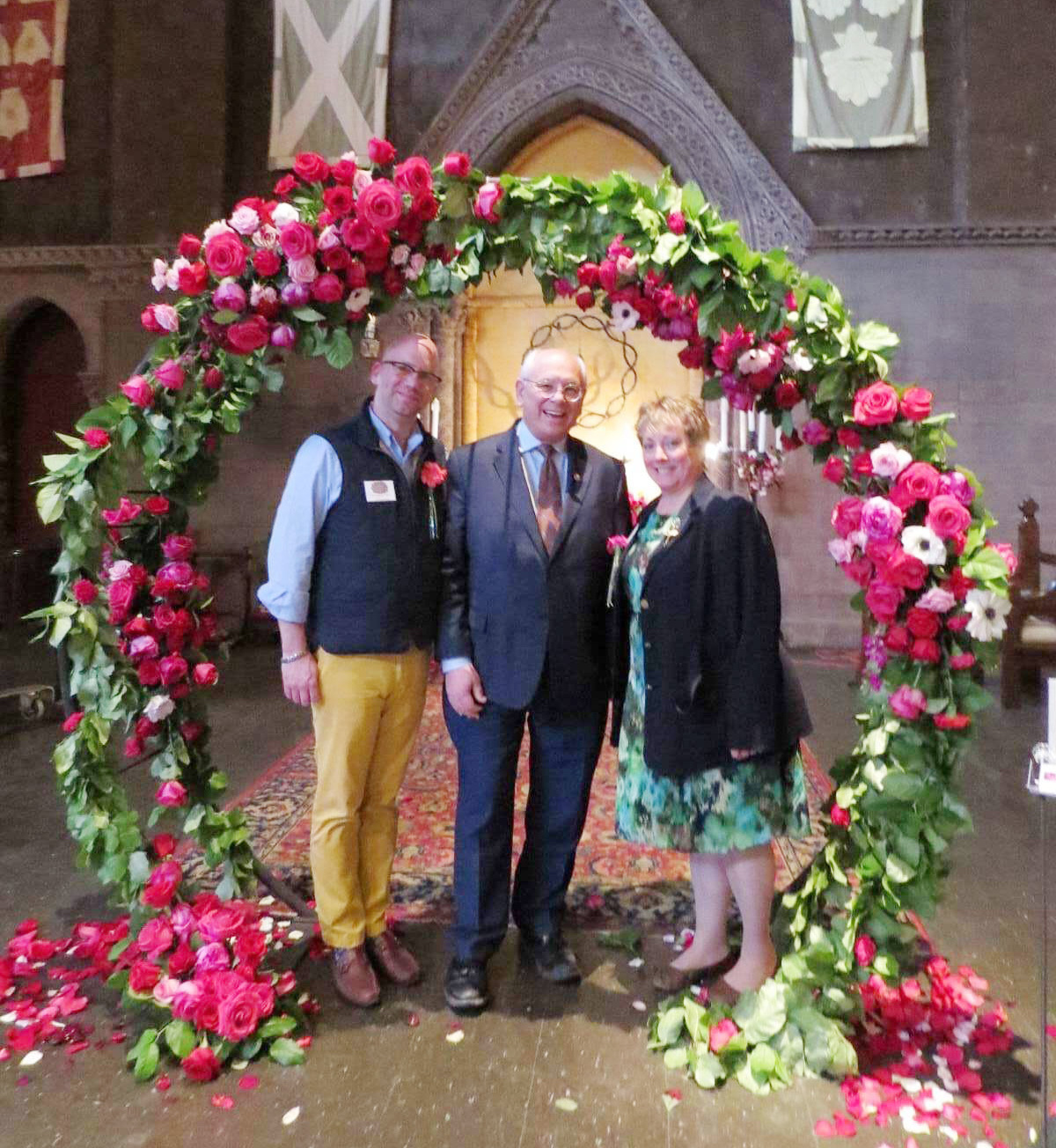 From left: Louis Bower Bannister,The Enchanted Florist &Cathedral in Bloom Co-chair, Congressman Paul Tonko, Michele Peters, Ambiance Florals and Events & Cathedral in Bloom Co-chair.