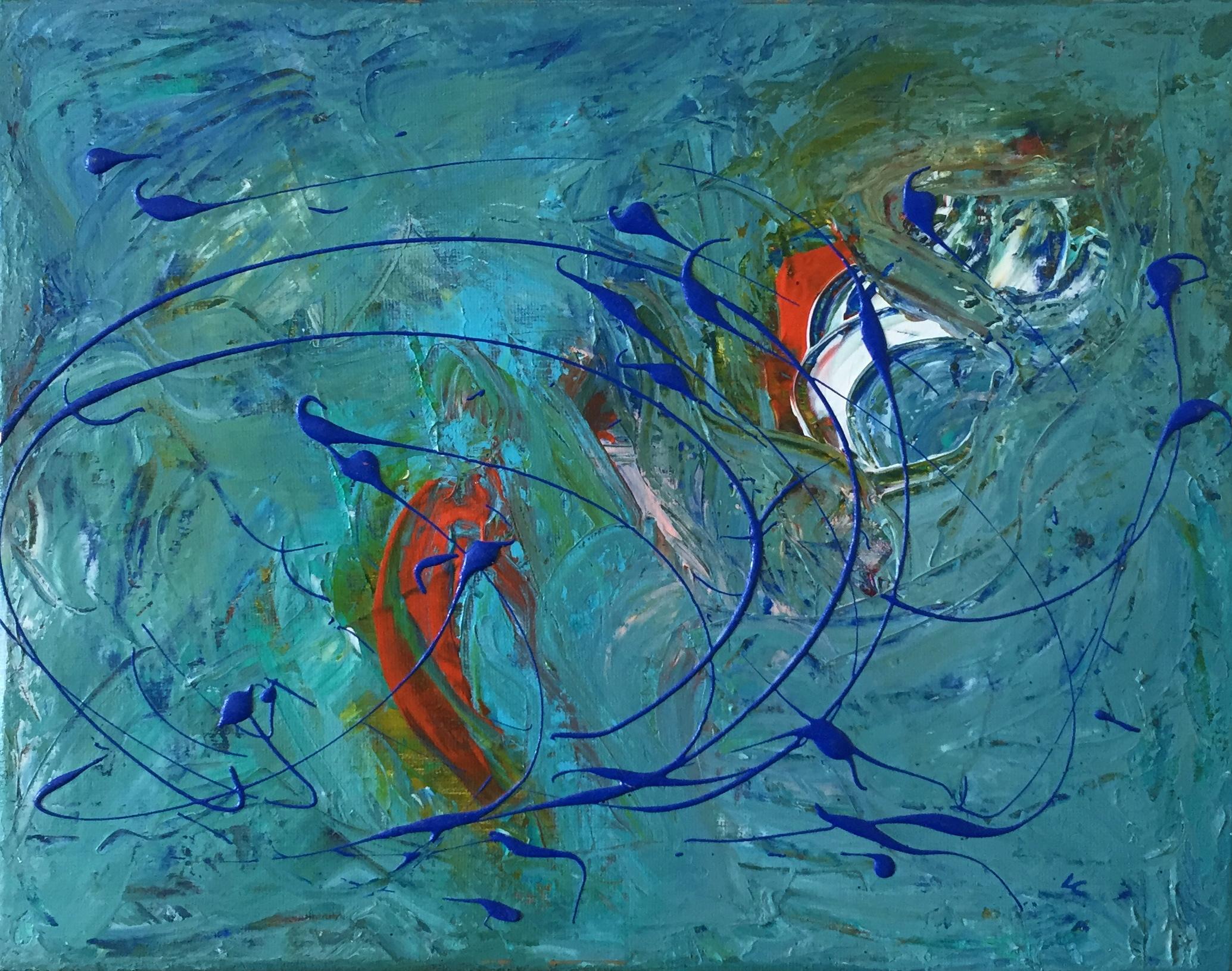 """Whirlwind 11"""" x 14"""" acrylic on canvas"""