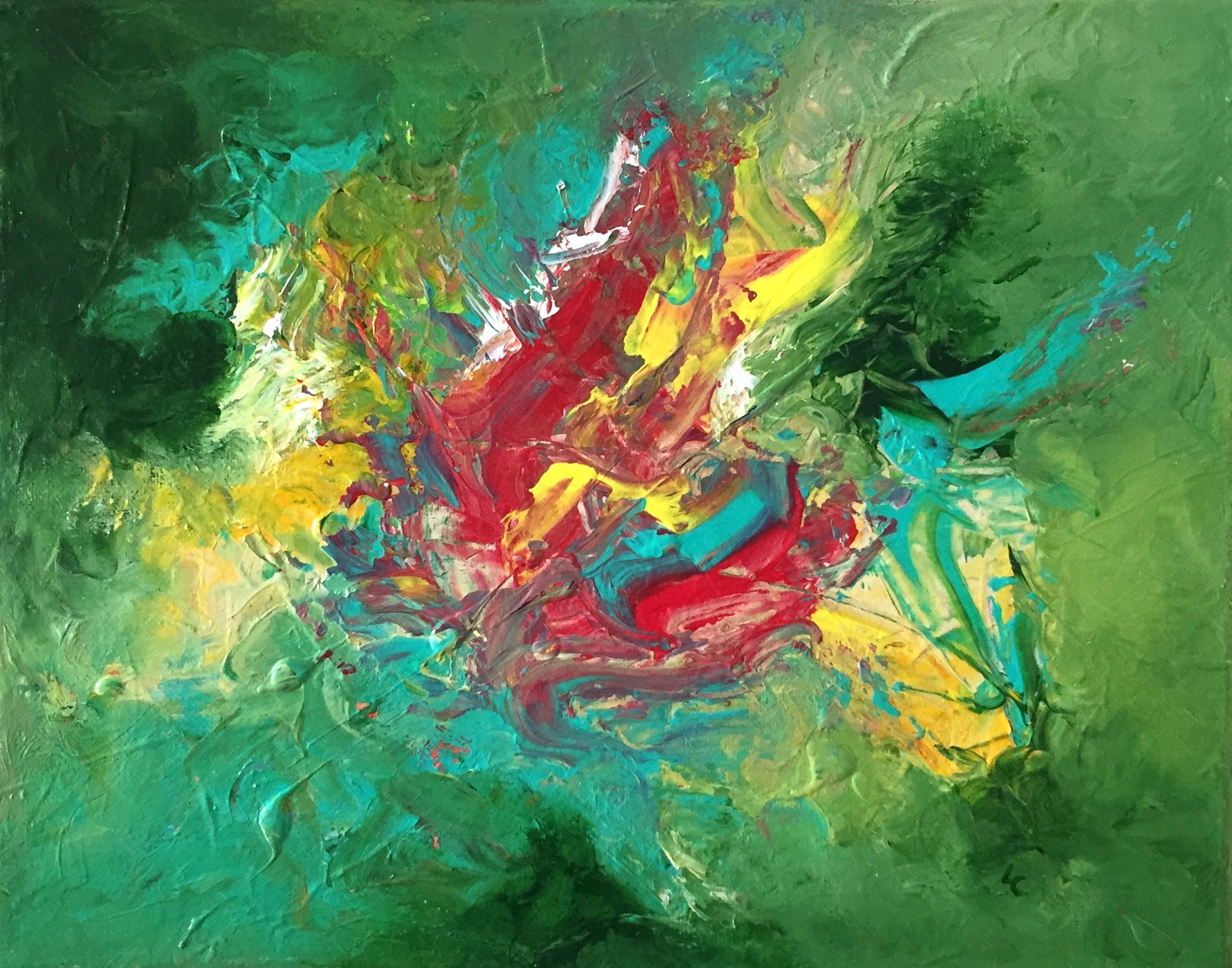 "Rediscovering Atlantis 11"" x 14"" acrylic on canvas"