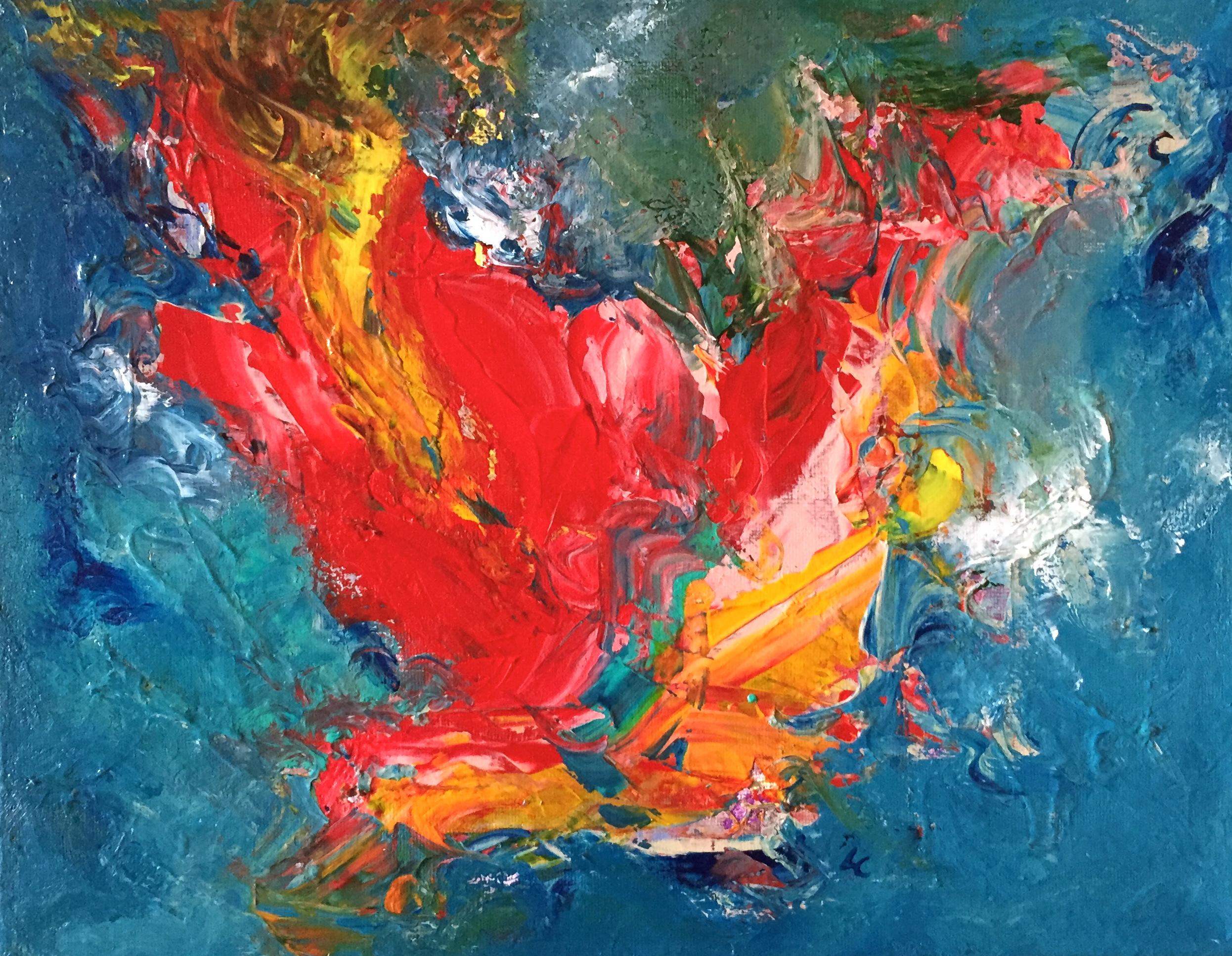 "Angelic Realm 11"" x 14"" acrylic on canvas"