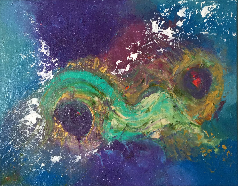 """A Star is Born 11"""" x 14"""" acrylic on canvas"""