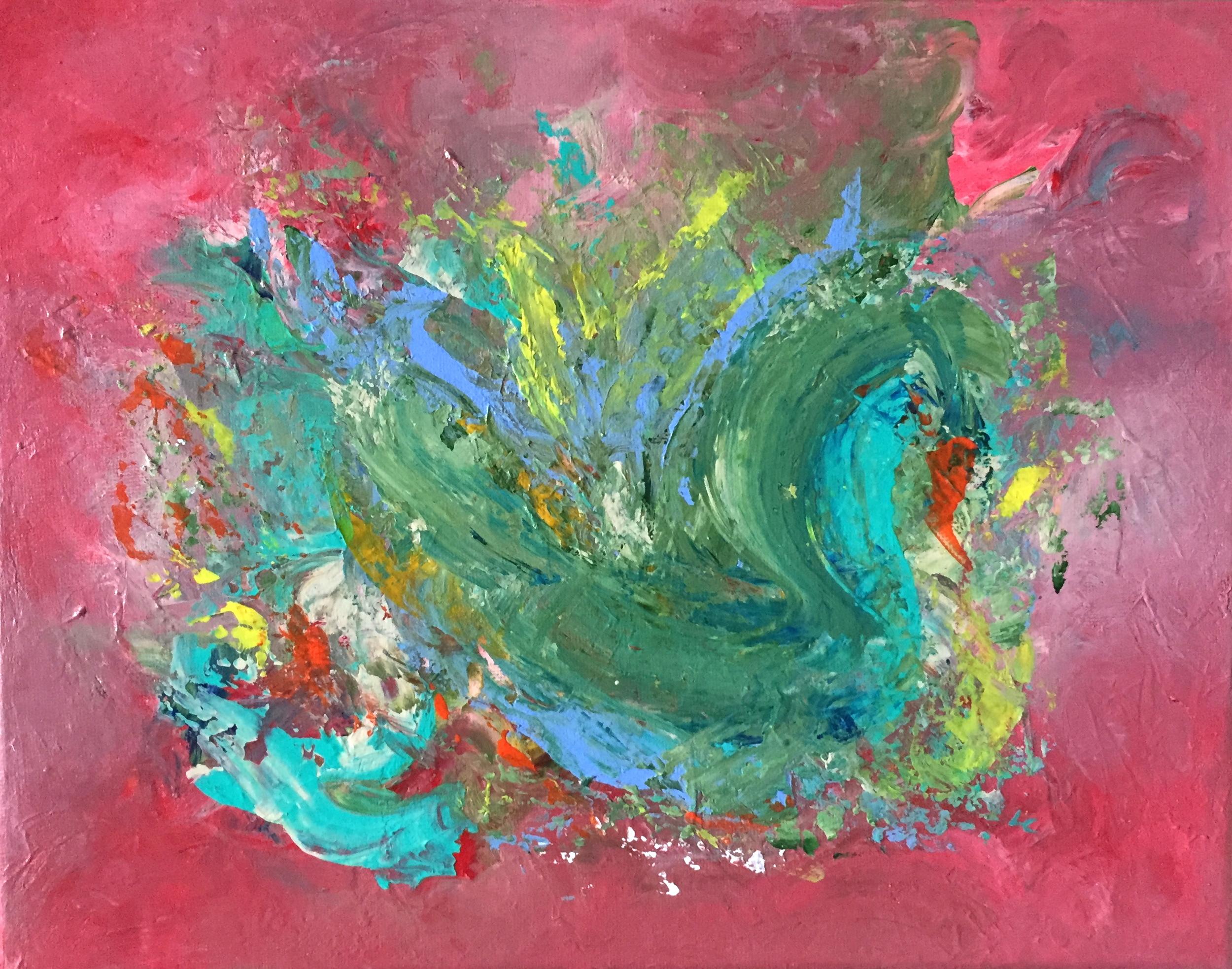 """Graceful Gliding 11"""" x 14"""" acrylic on canvas"""
