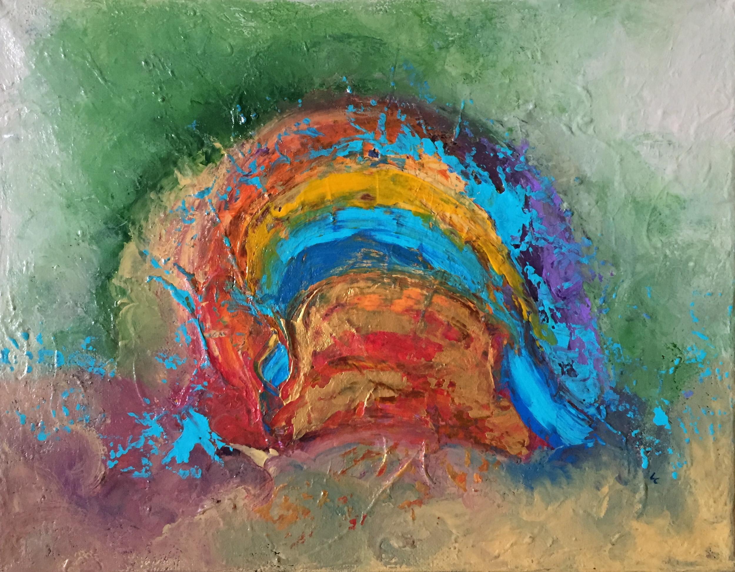"""Fairy Door 11"""" x 14"""" acrylic on canvas"""