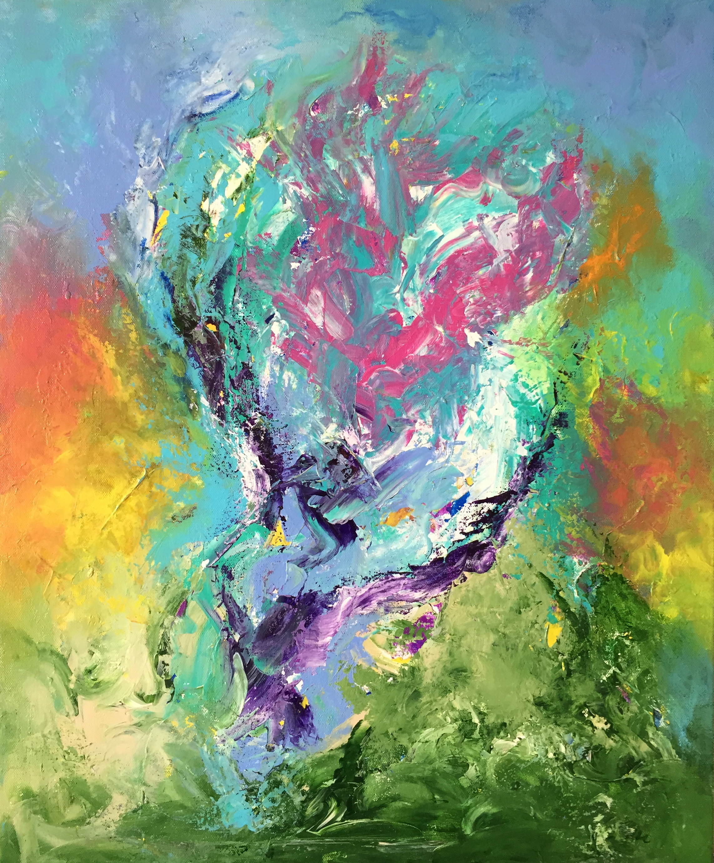 "Pegasus   24"" x 20"" acrylic on canvas"
